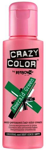 Coloration CRAZY COLOR - Emeral Green - Teinture Verte Cheveux Semi Permanente Pour une Coiffure Rock Punk Gothique Emo rockagogo.com