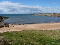 the blue flag sands of Ruby Bay in the East Neuk of Fife