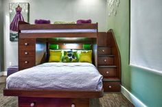 334455-r3l8t8d-650-interior-paint-color-with-wall-decor-and-teenage-bunk-beds-also-under-stair-storage-and-contemporary-bedding-with-carpet-and-drawer-pulls