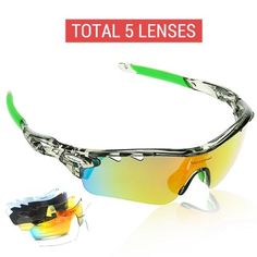 4dbf15b02fa8 5 in 1 Polarized Cycling Glasses Unisex