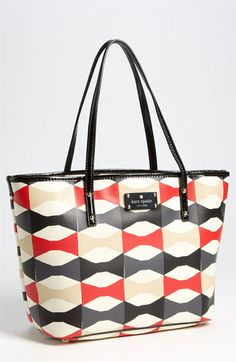 kate spade new york 'abstract signature bow - small harmony' tote.  For commuting?