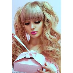 Real Life Russian Barbie Doll Girl Angelica Kenova ❤ liked on Polyvore featuring models and people