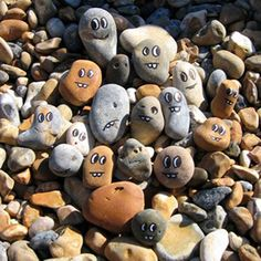 Painting beach rocks and pebbles