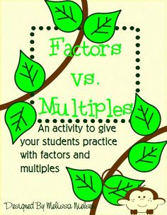 best factors and multiples images  prime numbers prime  a great activity for practicing factors and multiples prime and composite  factors and multiples