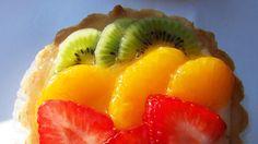 Tartaletas de naranja, frutilla y kiwi . Gastronomia.com.uy