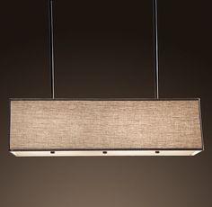 dining room lighting   something like this, but oblong instead of rectangular?