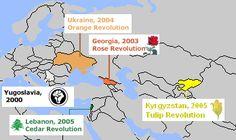 Color Revolutions Map - Barevné revoluce – Wikipedie