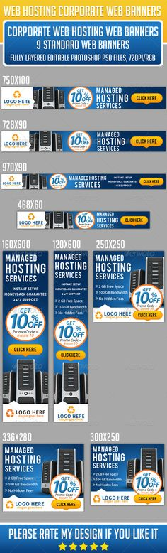 Corporate Web Hosting Banners Template PSD | Buy and Download: http://graphicriver.net/item/corporate-web-hosting-banners/8545847?WT.ac=category_thumb&WT.z_author=Asadktk&ref=ksioks