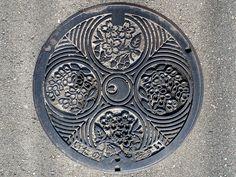 Manhole cover in Itano town, Tokushima pref, Japan