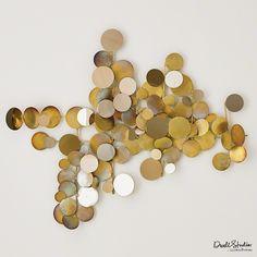 GRATS DÉCOR | Dot Wall Decor Sculpture - Brass/ Gold