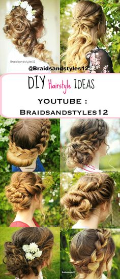 Braidsandstyles Bridal Updo Updo And By - Diy updos youtube