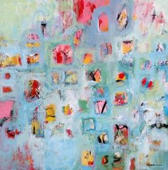 CONFETTI by Betty Krause Art | Abstract Art | Wall Art | Contemporary Art | Colorful Art |  Art on Canvas | Mixed Media | Acrylic Painting SOLD