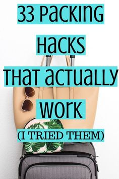 The very best packing hacks and packing tips and tricks. Check out this post about carry on packing tips, long term travel packing, backpacking, and more. packing Packing Hacks that actually work (and I've tried them! College Packing Tips, Suitcase Packing Tips, Packing Tips For Vacation, Carry On Packing, Packing Hacks, Travel Hacks, Budget Travel, Travel Deals, Travel Essentials