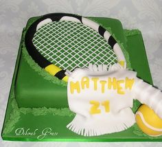 DeborahGrace Cakes - Celebration, in Tennis Cake, Tennis Party, Sport Cakes, Match Point, Sports Baseball, Bar Mitzvah, Amazing Cakes, Party Time, Cake Decorating