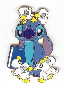 Stitch and Ducks Pin