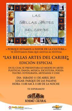 Las Bellas Artes del Caribe. 11abr 11am-11pm en Parque de las Palapas.