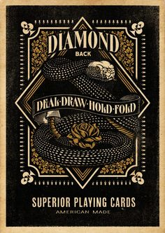 Diamondback Playing Cards by Aaron von Freter, via Behance
