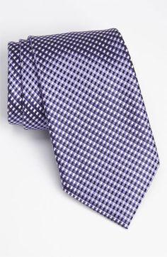 A1137 Silver Checkers Silk Tie Cufflinks Accessories Presents Idea Y/&G