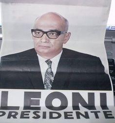 Afiche de la campaña de Raul Leoni.