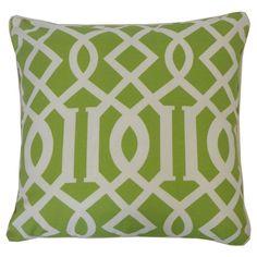 Lattice Lime Geometric 20x20-inch Pillow (Lattice Lime), Green, Size 20 x 20