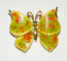 Vintage JJ Colorful Butterfly Brooch or Pin by Eosophobish on Etsy, $12.00