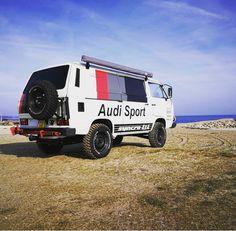 Vw Bus, Vw Volkswagen, Vw Camper, Vw Syncro, Transporter T3, Bus Interior, Offroad, Cool Vans, Audi Sport
