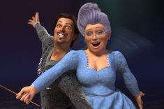 Fairy Godmother - Shrek 2 --such a scene stealer! Dreamworks Animation Skg, Disney Animation, Fiona Costume, Fiona Shrek, Princess Fiona, Princess Disney, Rumpelstiltskin, Fairy Godmother, Godmother Ideas