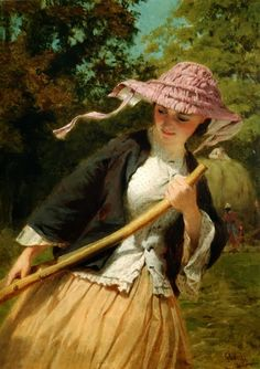 'To be with God it is not necessary to be always in church.  We may make a chapel of our heart' -Brother Lawrence  (painting of the Haymaker by George Elgar Hicks)