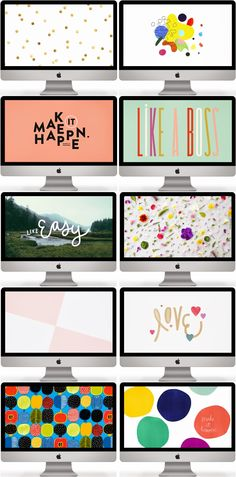 Switch things up with a motivational desktop makeover, includes 10 gorgeous and free desktop designs by TechLoveDesign.