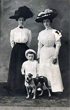 Great series of old photos of kids with their pit bulls.