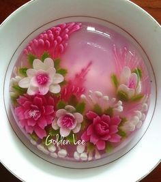 Unique Cakes, Creative Cakes, Creative Food, Fondant Cakes, Cupcake Cakes, 3d Jelly Cake, Jelly Desserts, Sugar Glass, Jelly Flower