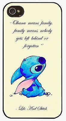Disney Lilo And Stitch Quote Plastic Case Cover for iPhone 4 4S 5 5S 5C