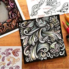 Learn how to draw this super fun scrolly picture with Bronx Cheer, Icanthis and Mooka tangles. Course by Eni Oken, CZT.