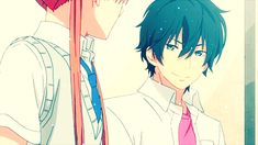 Can't you both just love each other at the same time - Tonari no Kaibutsu-kun ~ DarksideAnime My Little Monster, Little Monsters, All Anime, Manga Anime, Shizuku And Haru, Drama Games, Romance Anime, Aphmau, Crazy Love