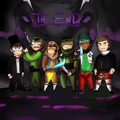 Love the achievement hunter guys and Victoria Candies is amazing at drawing them