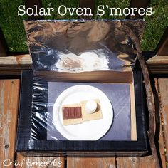 Solar Oven S'mores. Learn that heat is energy, & the sun's heat energy can be used to cook. Also learn why black things get hotter in the sun than white things. When you see a color, you are seeing all the light that an object *didn't* absorb, & reflected back instead. White stays coolest because it reflects back all the light. Black objects absorb all the light, so they absorb more energy.