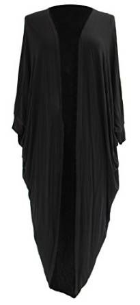 Ladies Womens Lagenlook Quirky Layering Cocoon Drape Wrap Cardigan Long Shrug One Plus Size