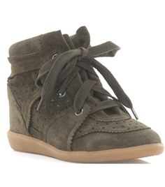 Bobby Suede Wedge Trainer by Isabel Marant #Matchesfashion