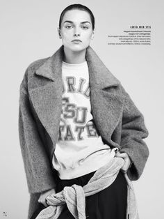 """"""" Daga Ziober for the Elle Sweden November 2014 issue, photographed by Johan Sandberg and styled by Marcus Söder """""""