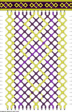Friendship bracelet pattern 43864 - 16 strings, 3 colours