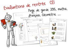 Voici une évaluation diagnostique CE1 School Life, Back To School, French Class, School Projects, Fun Learning, Assessment, Activities For Kids, Homeschool, Classroom