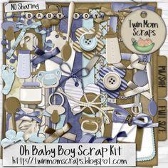 Free Digital Scrapbooking Kits   Home :: RETIRING SOON :: Oh Baby Boy Scrap Kit