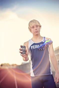 Senior Boy Track Star Pose Greg M Photography