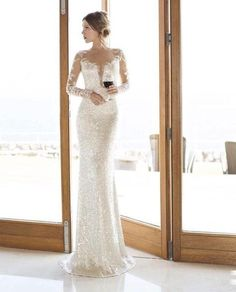 e87bc36a3a Long sleeve fitted sparkly wedding dress. 2014 orchid collection Wedding  Dresses 2014