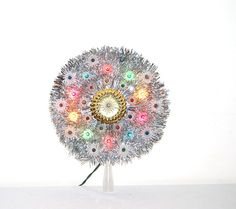 Vintage Bright Tinsel Tree Topper / Wall by ChristmasVintage, $14.50