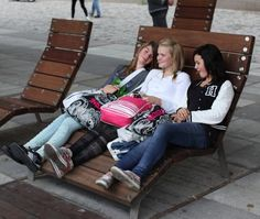 wooden lounge chair for public space BACKBIG PLAZA IN GÄVLE NOLA
