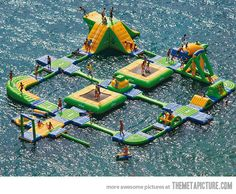 Definitely want this! A playground on the water! How awesom  is that?!
