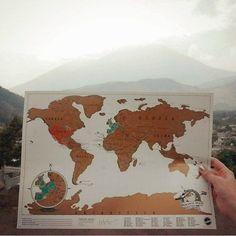 Take Scratch Map Travel along for the ride!  by @lysabey27 #scratchmap #scratchmapgoals #lifeofadventure #TravelGoals #travelgram #Wanderlust #weliketotravel #LifeWellTravelled #letsgosomewhere #LuckiesOfLondon