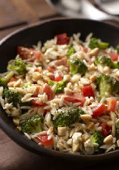 Orzo & Broccoli Salad – Prepare your taste buds for flavor overload: This Orzo and Broccoli Salad has Italian dressing, feta, almonds and more. Think you can handle it all?