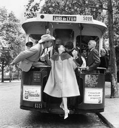 6e5efaa54b21b Audrey Hepburn and husband Mel Ferrer (in cowboy hat) during the photoshoot  of